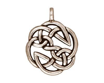 TierraCast Antique Silver (plated) Open Knot Pendant 23x30mm
