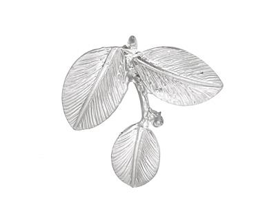 Ezel Findings Rhodium (plated) Camellia Leaves Pendant 27x24mm