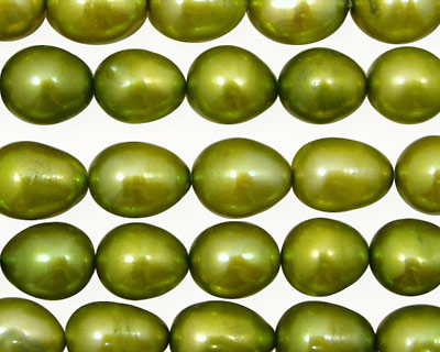 Olive Green Rice 9-11mm