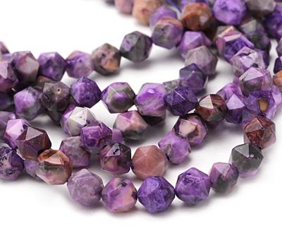 Purple Crazy Lace Agate Star Cut Round 8mm