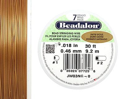 Beadalon Satin Gold .018