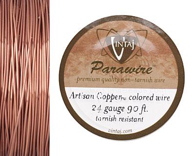 Vintaj Artisan Copper Parawire 24 gauge, 90 feet