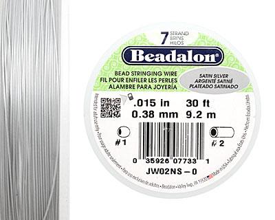 Beadalon Satin Silver .015