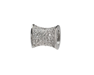 Silver (plated) CZ Micro Pave Hourglass 12x10mm