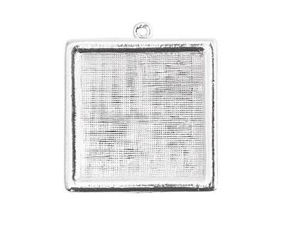 Nunn Design Sterling Silver (plated) Square Framed Pendant 30mm