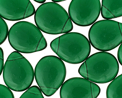 Czech Glass Green Emerald Teardrop 12x16mm