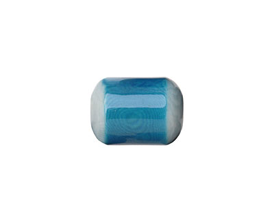 Tagua Nut Turquoise Bicolor Barrel 23-24x16-17mm