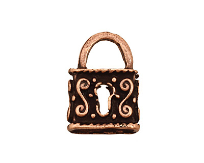 Ezel Findings Antique Copper Double Sided Padlock Pendant 16x23mm