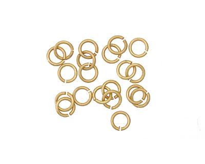 Matte Gold (plated) Jump Ring 4mm, 21 gauge