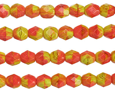 Czech Glass Chili Pepper Faceted Nugget 6x5mm