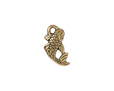 TierraCast Antique Gold (plated) Koi Charm 17x9mm