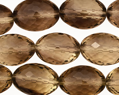 Smoky Quartz (yellow) Faceted Rice 20x15mm