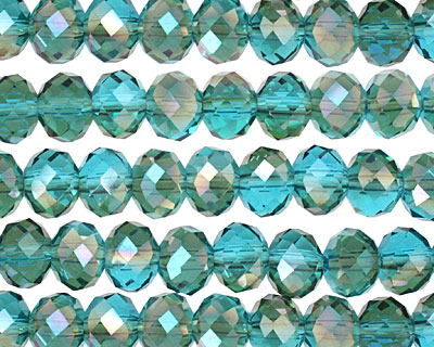 Apatite Golden Shadow Crystal Faceted Rondelle 8mm