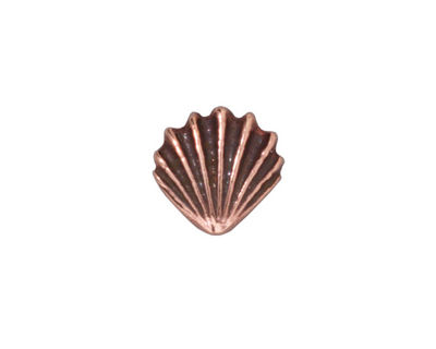 TierraCast Antique Copper (plated) Large Shell Bead 13mm