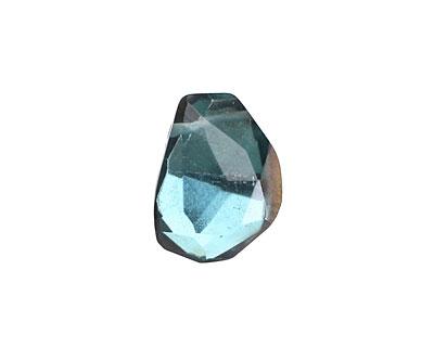 Metallic Gold Aquamarine (syn.) Faceted Nugget Drop 12-14x15-19mm