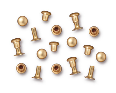 TierraCast Gold (plated) Compression Rivet Set 4mm