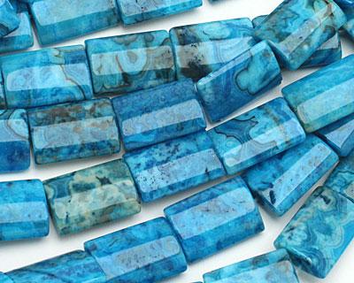 Larimar Blue Crazy Lace Thin Pillow 18x13mm