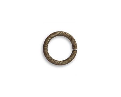 Vintaj Natural Brass Rib Cable Jump Ring 12.5mm