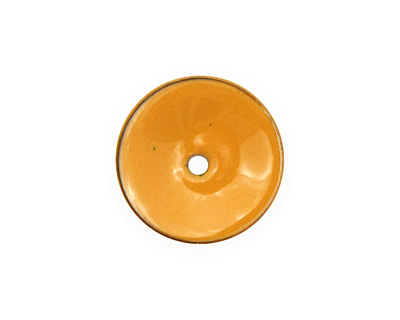 C-Koop Enameled Metal Dark Mustard Disc 3-4x18-20mm