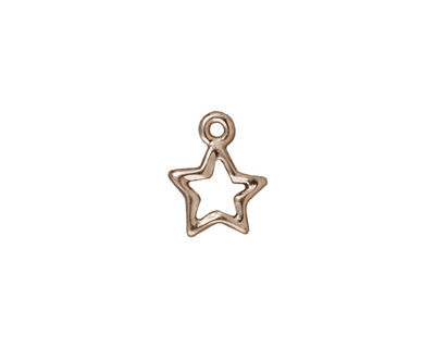 TierraCast Rhodium (plated) Open Star Charm 11x13mm