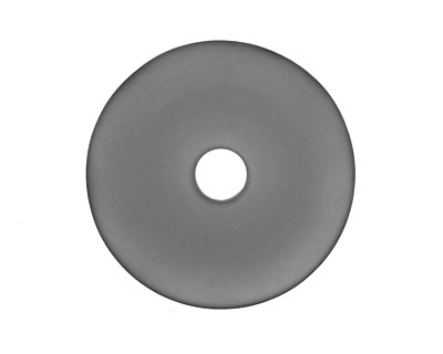 Transparent Black Recycled Glass Donut 40mm