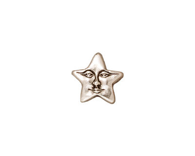 TierraCast Antique Silver (plated) Star Face Bead 11mm