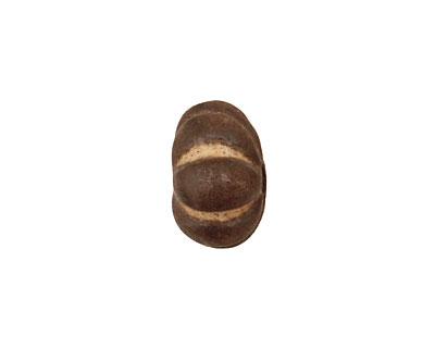 Gaea Ceramic Cream on Chocolate Lantern 9x15-16mm