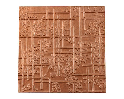 Lillypilly Antique Bamboo Embossed Patina Copper Sheet 3