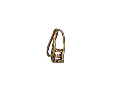 Antique Brass (plated) Hook & Eye Crimp Clasp 16x5mm (hook), 13x5mm (eye)