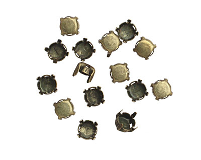 Beadalon Antique Brass (plated) Flat Memory Wire Round Cup Finding 6mm