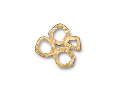 TierraCast Gold (plated) 4 Ring Link 17mm