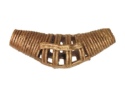 African Brass Cage Horn 40-43x17-20mm