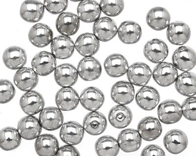 Czech Glass Silver Round 6mm