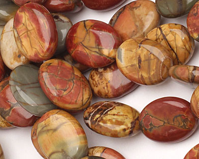 Red Creek Jasper Flat Oval 16x12mm