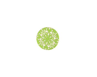 Lillypilly Lime Green Kaleidoscope Anodized Aluminum Disc 11mm, 24 gauge