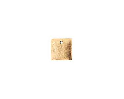 Nunn Design Antique Gold (plated) Flat Mini Square Tag 13mm