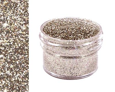 White Gold Ultrafine Opaque Glitter 1/2 oz.