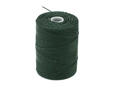 C-Lon Forest Green Fine Weight (.4mm) Bead Cord