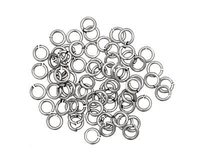 Artistic Wire Non-Tarnish Silver Chain Maille Jump Ring 3.57mm, 18 gauge