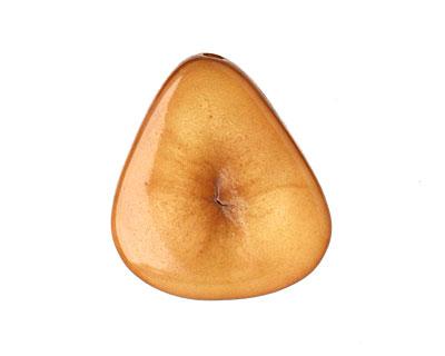 Tagua Nut Caramel Banana Chip 22-29x16-22mm