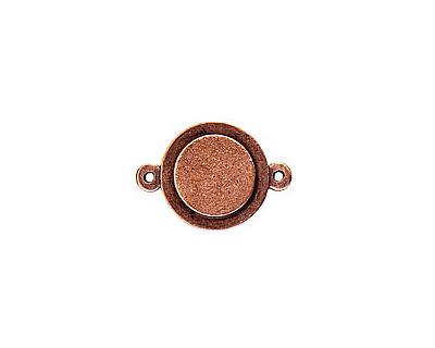 Nunn Design Antique Copper (plated) Raised Tag Mini Circle Connector 25x13m
