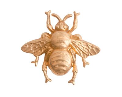 Nunn Design Brass Grande Bumblebee Embellishment 31x28mm