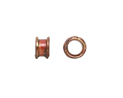 Patricia Healey Copper Plain Barrel 5mm Cord Slide 5x8mm
