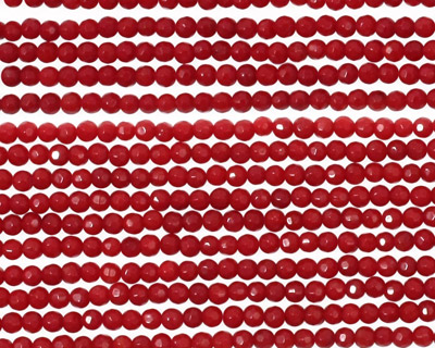 Coral Faceted Round 2mm