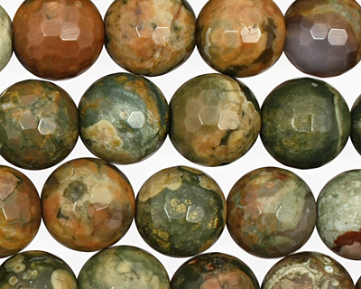 Rhyolite Faceted Round 10mm