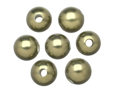 Olive Shell Pearl Round (large hole) 10mm