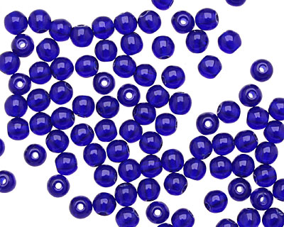 Czech Glass Cobalt Round 4mm