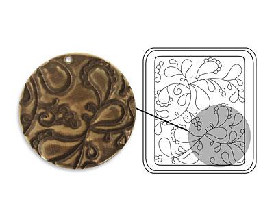 Vintaj DecoEtch Die Paisley Swirl 2 3/8
