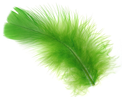 Chartreuse Turkey Flat Feather 100-152mm