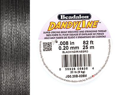 DandyLine Black .2mm Thread, 25 meters